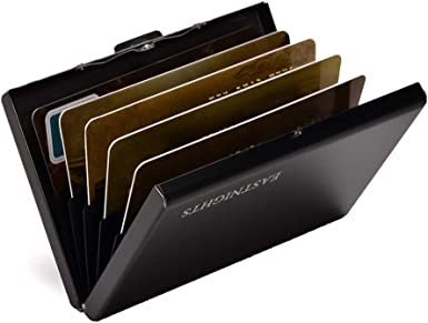 Amazon.com: RFID Credit Card Holder Metal Wallet Slim Credit Card Case  Protector Business Card Holder for Men or Women: Clothing