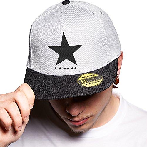 Black Star Urbano Visera con y Bordado Plana Ajustable Original Snapback Unisex Grey Logotipo David Cap Bowie Black Gorra qgrwfHS1qF