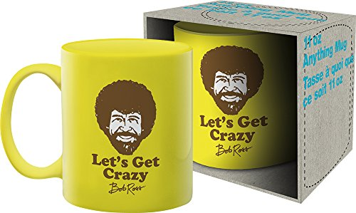 AQUARIUS Bob Ross Crazy 11 Oz Boxed Ceramic Mug
