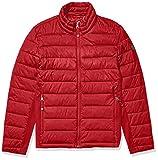 GUESS Men's Puffer Jacket, Red, Medium
