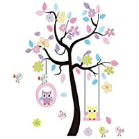 LaceDecaL Charming Art Colorful Tree Decals with Hanging...