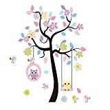 Best Birds Stickers For Wall Arts - LaceDecaL Charming Art Colorful Tree Decals with Hanging Review