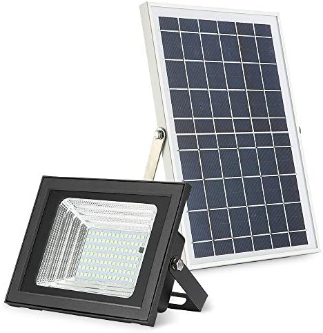 Solar Flood Lights Outdoor, MYM 10W 98 Led Auto-on Off Dusk to Dawn Waterproof Solar Powered Security Light Fixture for Backyard Flag Pole Garage Business Sign