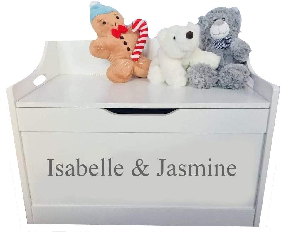 Little Secrets Gifts Personalised Childrens White Wooden Toy Storage Box Sibling Sharing Gift Present