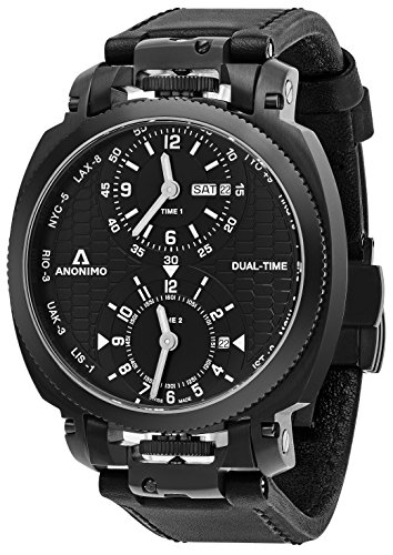 anonimo-mens-military-43-mm-black-face-dual-time-black-leather-strap-day-date-swiss-mechanical-watch