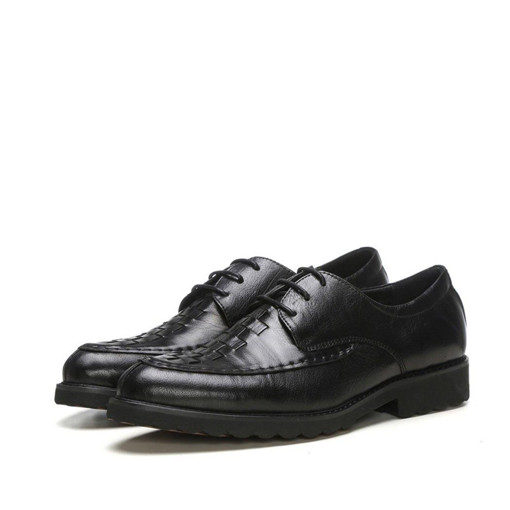 HHY-El otoño y el invierno de cuero inferior suave tejido blando business casual calzado casual de hombres jefe capa,negro,41 41 black black