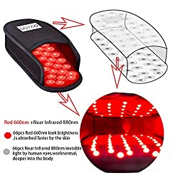 DGXINJUN Red Light Therapy Devices Near Infrared LED Pad 880 NM Foot Pain Relief Slipper for Feet Toes Instep