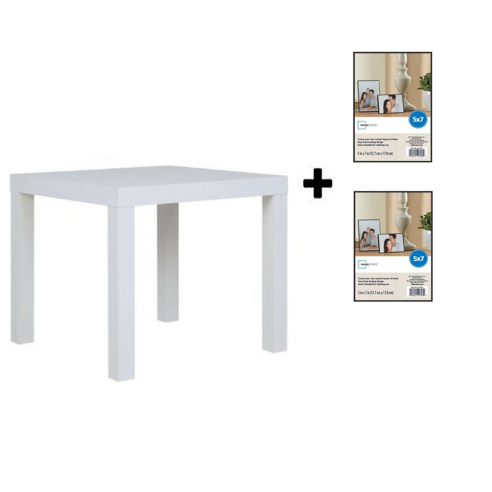 Mainstays Parsons Side End Table, Multiple Colors Canyon Walnut with Frame