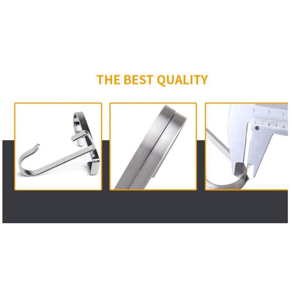 TOPBATHY 4Pcs Stainless steel over door hook square hook for kitchen bathroom