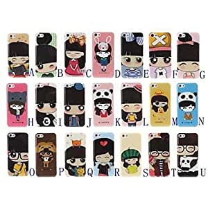 Mini - Lovely Girl Series Plastic Hard Case for iPhone 5C , Color: P