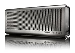 BRAVEN 850 Portable Wireless Bluetooth Speaker [20 Hours Playtime] Built-In 8800 mAh Power Bank Charger - Silver