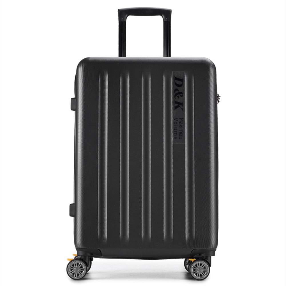 TSAで承認されたスーパー軽量ABSハードシェルトラベル4スピナーホイールスーツケースキャビンハンド荷物、3桁のコンビネーションロック、ラップトップコンパートメントトロリーバッグ。  Black B07MNQM8MY