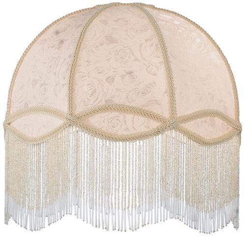 Meyda Tiffany 17361 Fabric & Fringe Dome Shade, 18'' Width, Ivory by Meyda Tiffany