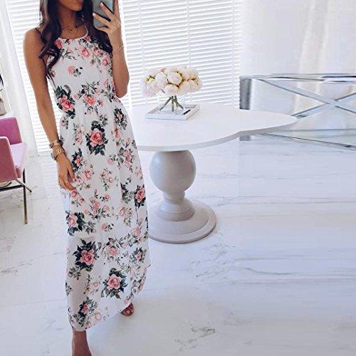 ITISME Vestido - Cóctel - Sin Mangas - para Mujer Rosa