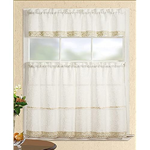 Country Kitchen Curtains Amazon Com: Cafe Curtains With Valance: Amazon.com