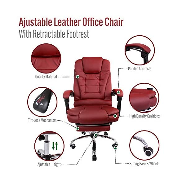 Halter Reclining Leather Office Chair Modern Executive Adjustable Rolling Swivel Chair Gaming Chair With Headrest And Trp