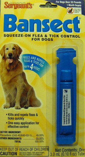 Sergeants Bansect Squeeze-on Flea and Tick Control for Dogs, My Pet Supplies