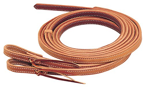 Weaver Leather Doubled & Stitched Heavy Harness Split Reins (Water Loop Split Reins)