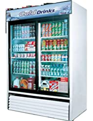 Turbo Air TGM48R 48 cu. ft. Glass Door Merchandiser Refrigerator with Energy Conserving Fan Control Double Pane Glass Doors High Density PU Insulation and Adjustable Shelves: