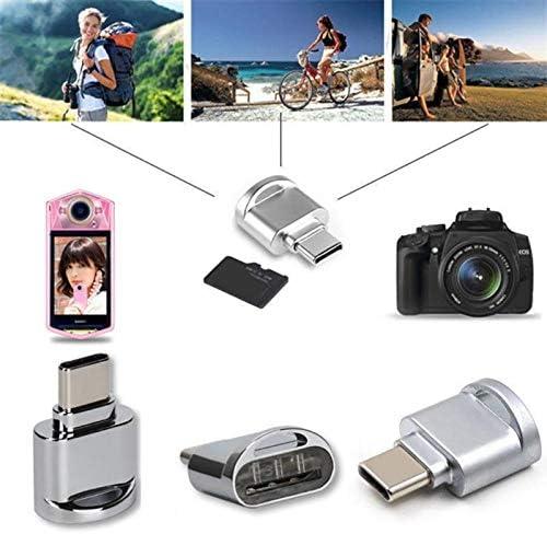 Type-C Micro SD TF Memory Card Reader Aluminum OTG Adapter