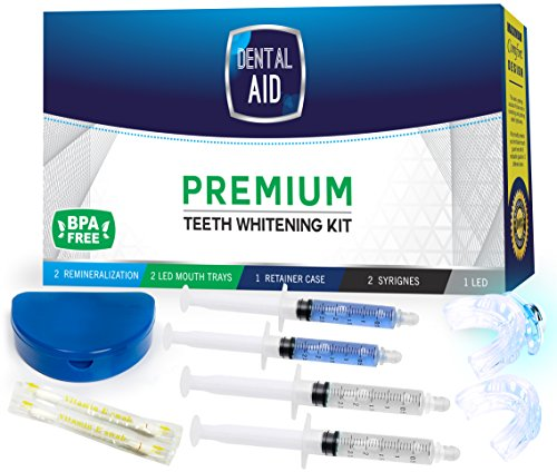 Premium Teeth Whitening Kit for Home use - Made in USA - Faster Results Than Tooth Whitening Strips, Pen and...