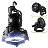 HAITRAL 2IN1 Portable LED Camping Lantern with Ceiling Fan 18 LED...