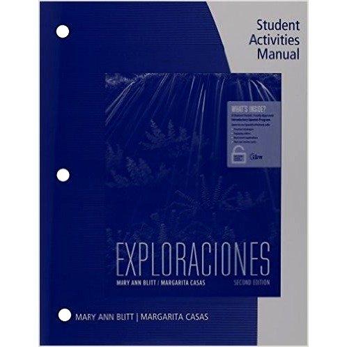 Download Exploraciones: Student Activities Manual ebook