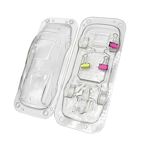 Fityle Plastic Car Fondant Mold Cake Sugar Candy Decorating Clear DIY Baking 3D by Fityle