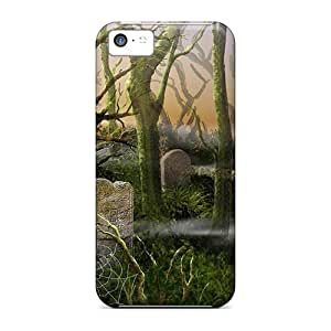 Defender Case For Iphone 5c, Grave Yard Pattern