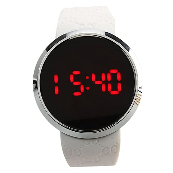 weix inbuy Compre el Manner redondas LED Screen Fecha Digital Reloj de pulsera: Amazon.es: Relojes