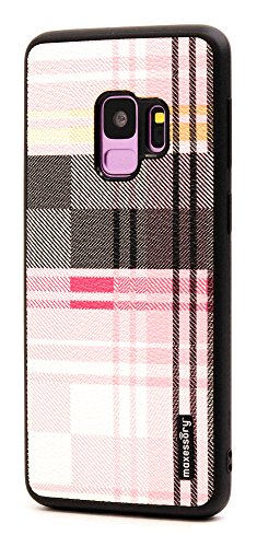 - Galaxy S9 Case, Maxessory Pink Tartan Ultra-Slim Luxury Premium Full-Body Hard Plaid Pattern Protective Full Body Shell Brush Texture Armor Cover