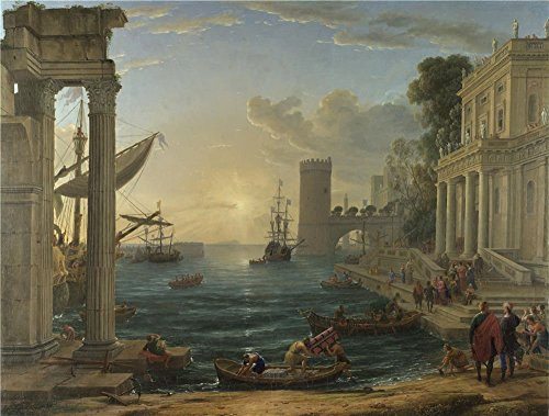 Oil Painting 'Claude Seaport With The Embarkation Of The Queen Of Sheba ' Printing On Perfect Effect Canvas , 30 X 40 Inch / 76 X 101 Cm ,the Best (Mile High Club Costume Ideas)