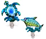 Puzzled Night Light Sea Turtle and Dolphin For Sale