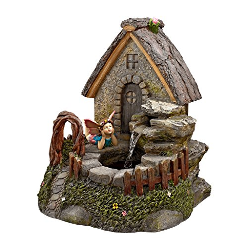 Water Fountain - Fairy Garden Village Sanctuary Garden Decor Fountain - Outdoor Water Feature