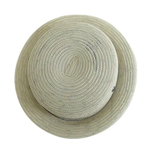 iLXHD Men Women Jazz Cap Faux Woolen Wide Brim England Summer Sun Cap Felt Hat Pork Pie hat ()