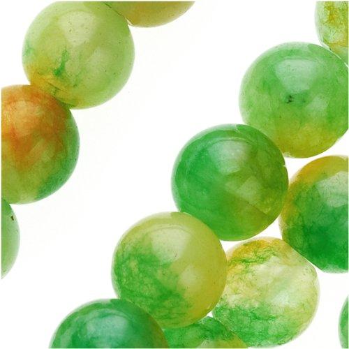 Dark Green Jade (Dark Green Watermelon Jade 8mm Round Beads / 15)