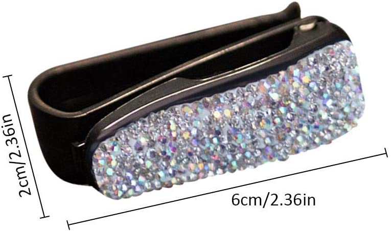 Eternitry Auto Schiebedach Visier Sonnenbrille Clip Halter Strass Gl/änzende Kristallbrille Bill Clamp Karte Ticket Zubeh/ör f/ür M/ädchen Frauen Dame