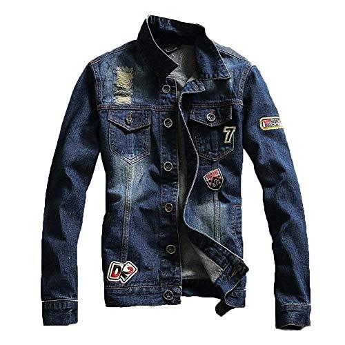 Buco Blau Da Classica Oversize Strappato Giacca Con Taglie Jeans Bambina Blouson Abiti Comode E Uomo RnqfP