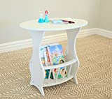 Indoor Multi-Function Accent Table Study Computer Home Office Desk Bedroom Living Room Modern Style End Table Sofa Side Table Coffee Table White magazine desktop