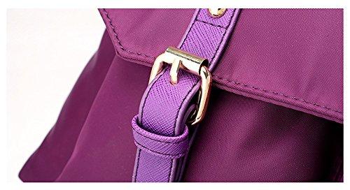 Bolsos del nilón del paquete de la mam3a de la manera forman la bolsa de hombro de la capacidad grande del bolso de tela de Oxford ( Color : Purple ) Purple