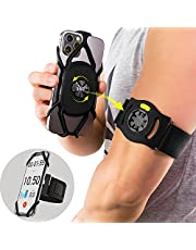 """Bone Run Tie Connect Kit, Running Phone Holder Detachable 360° Rotation Arm band for Workout for iPhone 12 Pro 11 Pro Max XS XR X 8 7 Samsung Galaxy S10 S9 S8 Smartphone, Phone Size 4.7-7.2"""" (Phone Holder & Arm Strap Included)"""