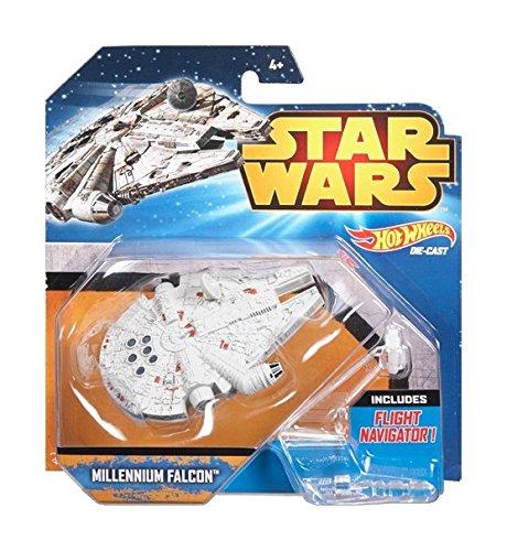 Hot Wheels Star Wars Starship Millenium Falcon (Small Star Wars Toy Ship)