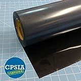 "Arts & Crafts : Siser Easyweed Black 15"" x 5' Iron on Heat Transfer Vinyl Roll"
