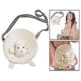 OFKPO Little Girls' Bag Adorable Sheep Plush Cartoon Bag, Plush Coin Purse for Kids