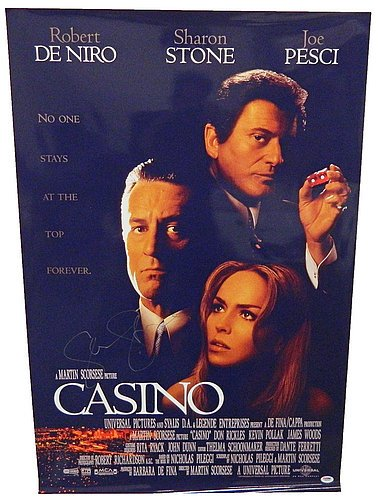 Sharon Stone Signed Casino 24x36 Full Size Movie Poster -PSA/DNA Authentic Autograph Signed Casino