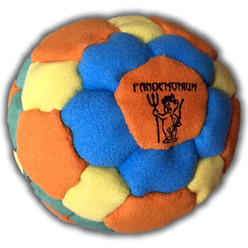 Neon Flux Footbag 42 Panels Hacky Sack All Around Bag Sand & Iron Weighted At 2.1 Onces