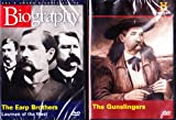 The History Channel : The Gunslingers - Wild Bill Hickock, Jesse James , Wyatt Earp , Biography the Earp Brothers ; Wild West 2 Pack Gift Set
