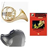 Band Directors Choice Single French Horn in F - Essential Elements for Jazz Ensemble Pack; Includes Student French Horn, Case, Accessories & Essential Elements for Jazz Ensemble Book