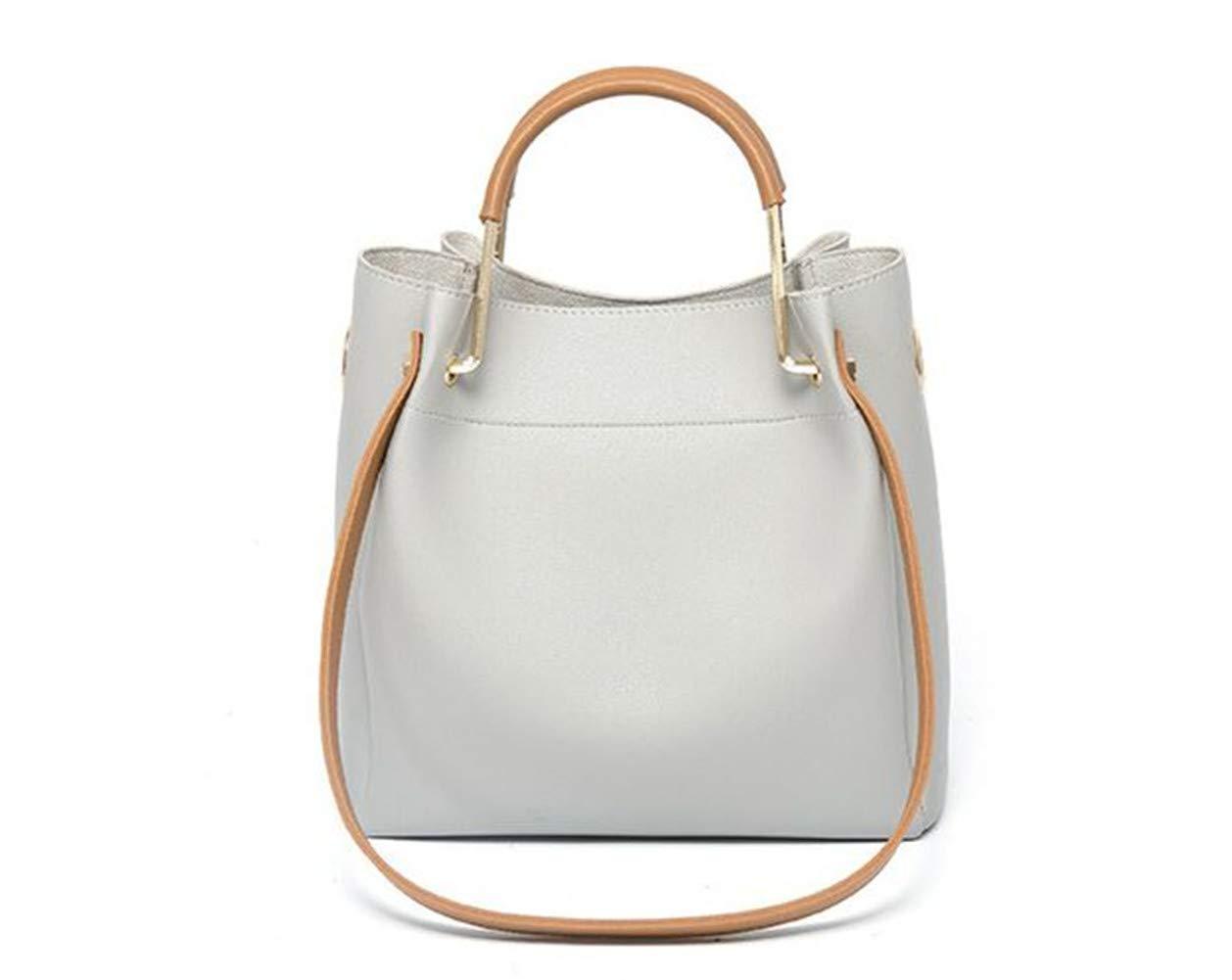 FTSUCQ Womens/Big Girls Bucket Satchels Shoulder Handbags Casual Messenger Bag Hobos Satchels Purse (Gray)