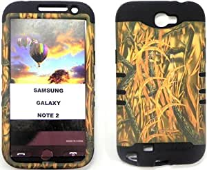 good case For AT&T/TMobile Samsung Galaxy Note 2nd Generation Note II N7100 Protector case cover Purple Silicone+Grass Camo Faceplate Hybrid 3uCF9DWFX6 plusd 5.5 Cover with Kickstand